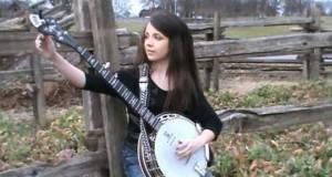playing banjo