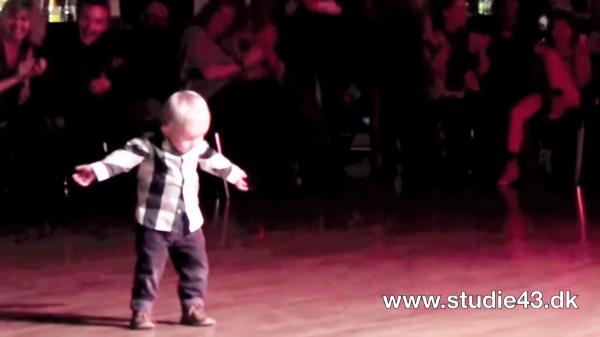 Toddler dances to Jail House Rock