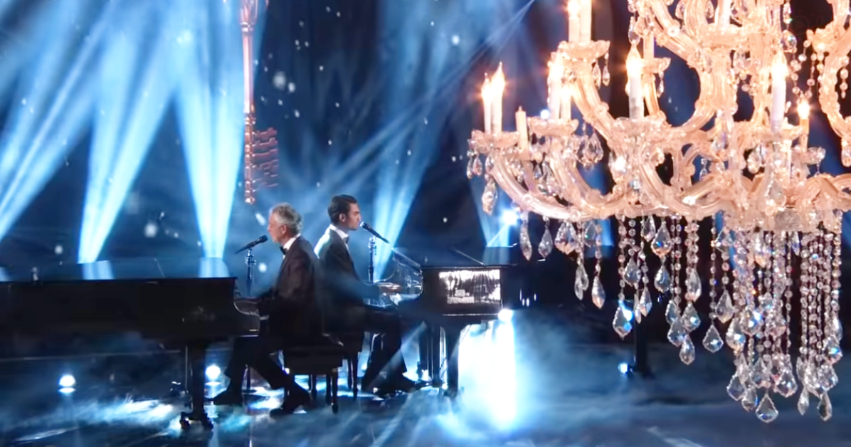 Andrea Bocelli and Son Sing on DWTS