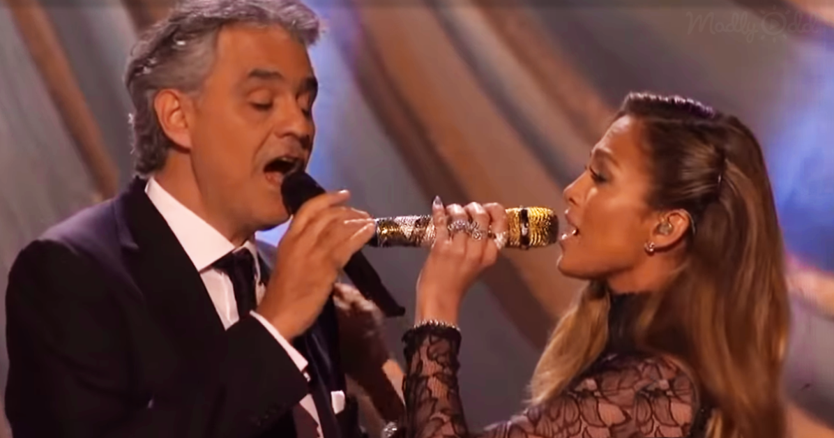 Andrea Bocelli and Jennifer Lopez