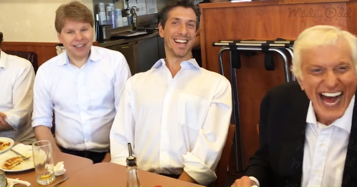 ick Van Dyke Surprises Denny's Diners with Chitty Chitty Bang Bang