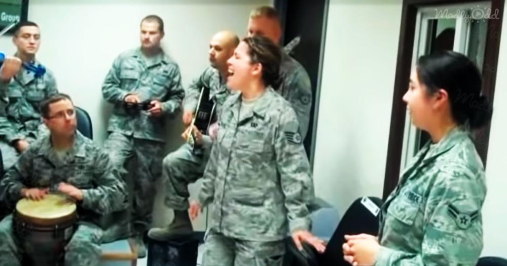 deployed airmen sing adele og1