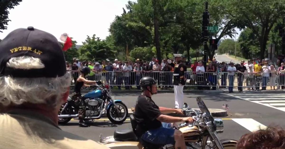 Female Biker Stops In Front The Saluting Marine. What She Does Next? I Couldn't Stop Crying!