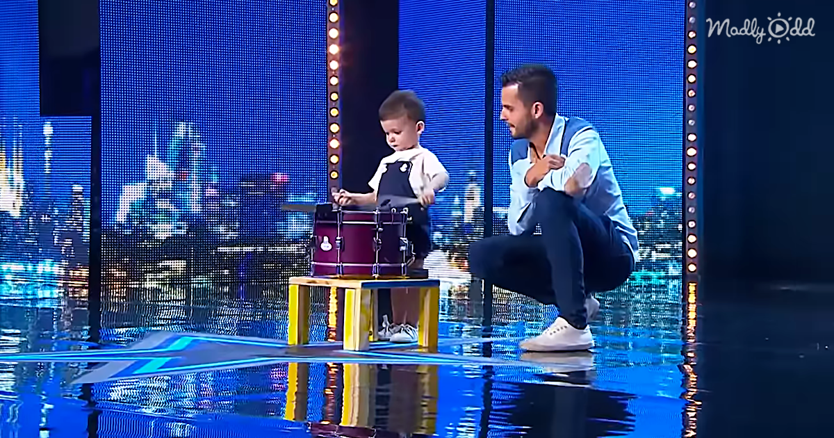 "Watch 2 Year Old Hugo, The Youngest ""Got Talent"" Contestant Ever, Play His Drum"