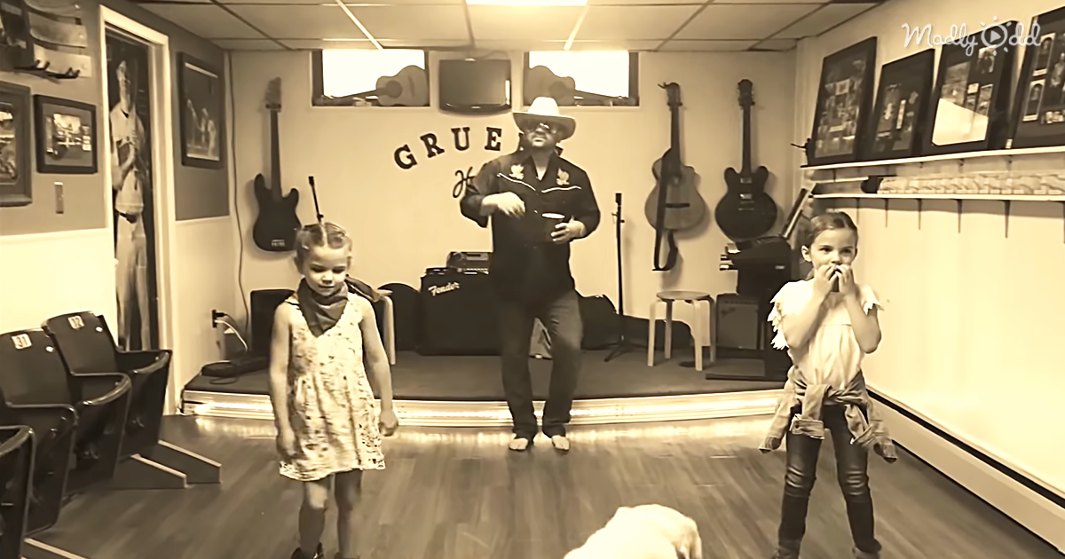 A Father And His Two Daughters Perform 'The Git Up Challenge'