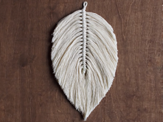 How To Make A Large Macrame Feather