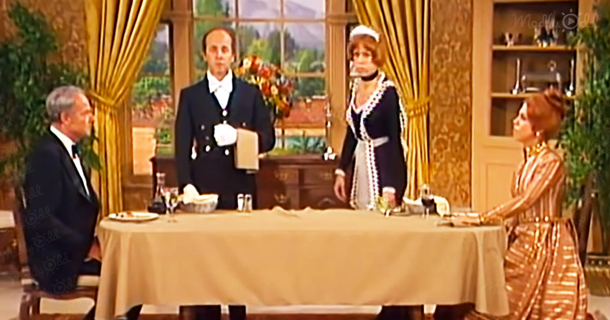 Butler and maid go to extremes on The Carol Burnett Show sketch