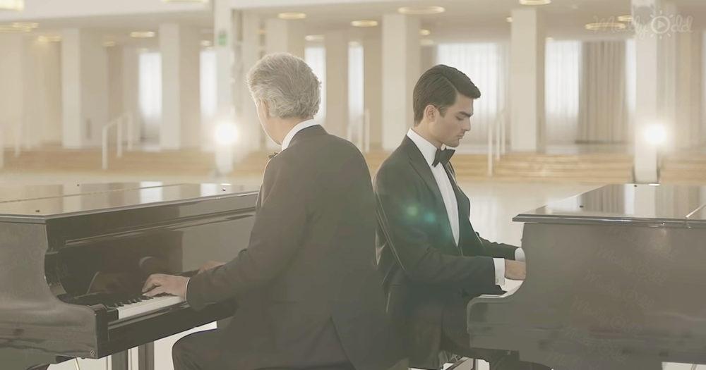 Andrea Bocelli and Matteo Bocelli