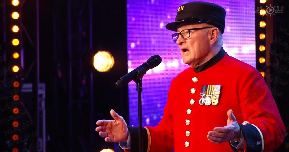 Veteran singing on Britain's Got Talent