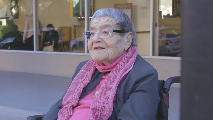 94-year-old Flossie Lewis