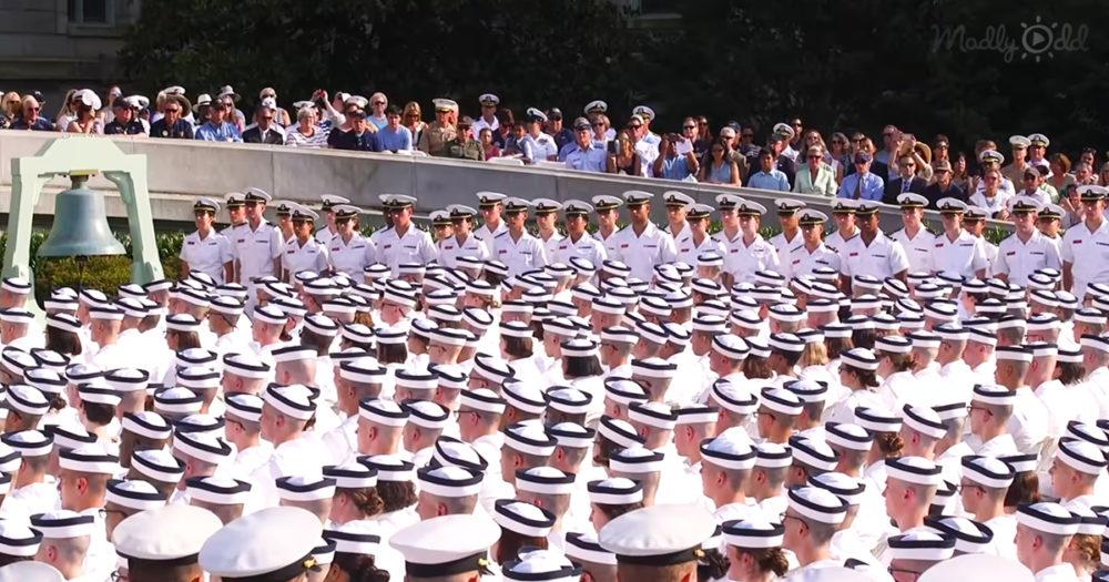 Navy freshman at Annapolis