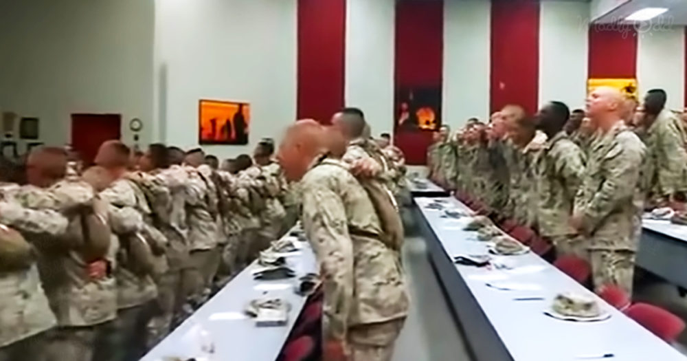 US Marines sing their hearts out to classic gospel hit 'Days of Elijah'